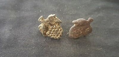 Lovely rare pair of Post Medieval Grape mounts once fully Gold Gilded L81w