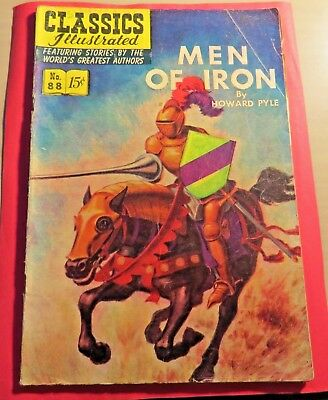 Classics Illustrated #88 Men of Iron  Golden Age (1951) CB574 First Edition