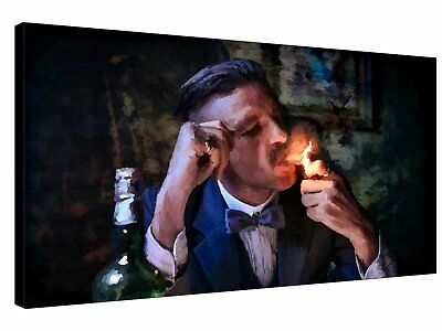 PEAKY BLINDERS Arthur Shelby Cigar - Quality canvas wall art, ready to hang
