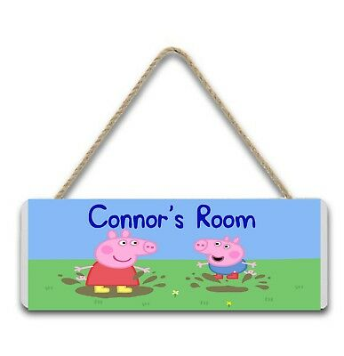 Children's personalised Peppa Pig door and Wall signs