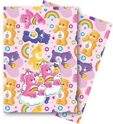 Care Bears Gift Wrap, 2 Sheets of Quality Wrapping Paper & 2 Tags.