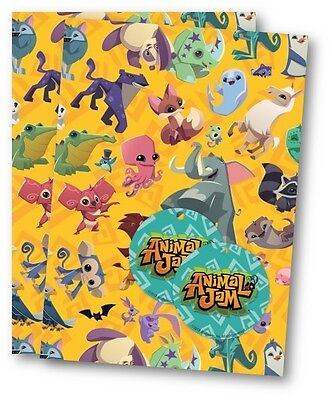 Animal Jam Gift Wrap, 2 Sheets of Quality Wrapping Paper & 2 Tags.