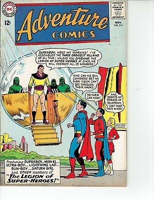 ADVENTURE COMICS #314 DC Silver Age Comic 1963 VG+ Legion of Super-Heroes