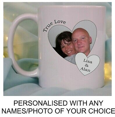 Personalised Couples Photo Mug Wife Husband Birthday Valentines Day Gift Him Her