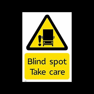 Blind Spot - Take Care Sticker / Sign - TFL - LORRY - LONDON - CYCLIST (MISC229)