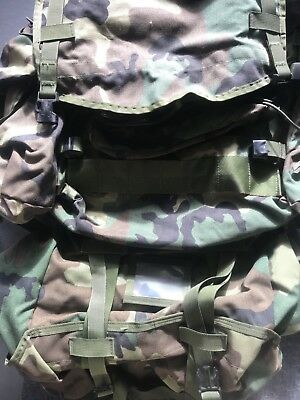 Molle II Pack Woodland Camo with Sleep System Carrier, Gen IV Frame-GUC