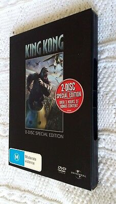 King Kong (DVD, 2-DISC SPECIAL EDITION BOX  SET) R: 2+4+5, LIKE NEW, FREE POST