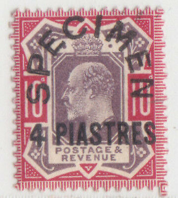 Turkey  British Levant 1902 - 1905 Issue 4 Pia. Speciment Sg.10= Scott 10 Rrr