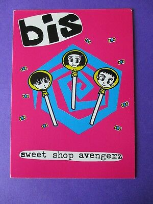 Bis Sweet ORIGINAL 1997 PROMO POSTCARD Shop Avengerz 2 sided Wiiija DEBUT SINGLE