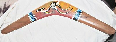 """Genuine Hand Painted Australian Large 23.5""""  Wooden Boomerang FREE SHIPPING"""