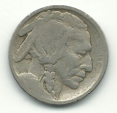 A Vintage 1913 S Buffalo Nickel Type 1 Raised Mound Coin-Dec458