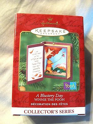 HALLMARK BLUSTERY DAY WINNIE POOH #3  SERIES 2000 ORNAMENT NIB NEW Book