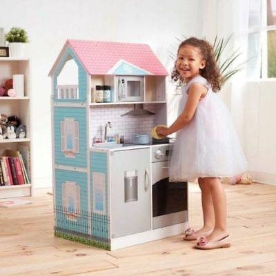 Teamson Kids Posh 2-IN-1 Kitchen Dollhouse 1140458 doll house set NWT
