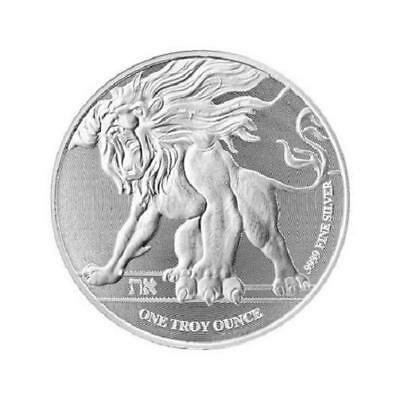 NIUE 2 Dollars Argent 1 Once  Lion rugissant 2018 - 1 Oz silver coin