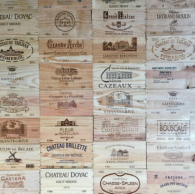 Pack Of 6 Wooden Wine Box End Panels / Plaques / Prints /engraved End Piece