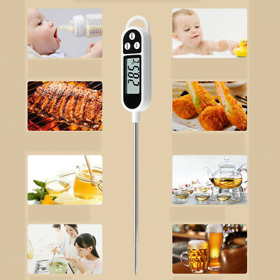 Digital Instant Read Food Thermometer Temperature Test Tool For BBQ Cooking