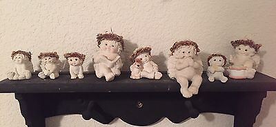 Dreamsicles Figurine Lot Of 8 Birthday, Bookworm, Dog Pal And Mini's Cute Angels