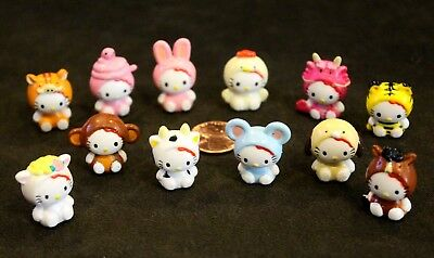 Lot of 12 Sanrio Mini HELLO KITTY & FRIENDS Figures: MINI Figures