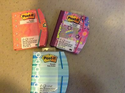 """1 Post-it Portable Note Book with 2 pads - 3"""" x 3 & 7/8"""" x 3 and Mini Pen - NEW"""