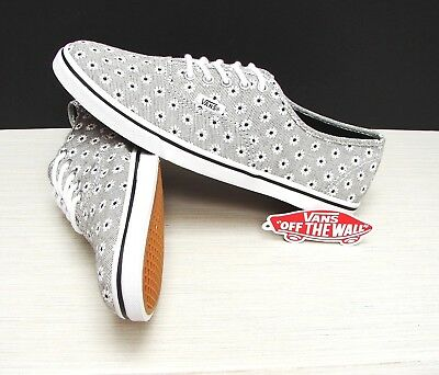 ca0a277428 Vans Authentic Lo Pro Chambray Floral Black True White Women s Size  6.5