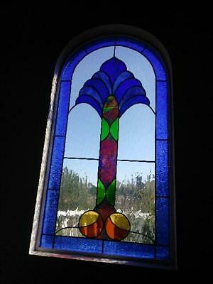"Exotic Custom Stained Glass Art - Size 50.5"" x 26.5"""