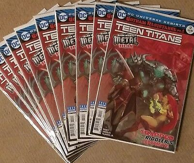 TEEN TITANS 12 Dark Nights Metal RED SHOCK Variant 10 PACK 1ST Batman Who Laughs