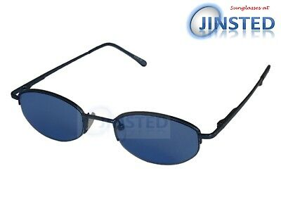 High Quality Sunglasses Blue Tinted Oval Lens with Half Frame UV400 CL014