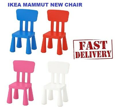 IKEA MAMMUT CHILDREN'S CHAIR/STOOL INDOOR/OUTDOOR Colours & Style New