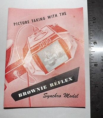Instruction Book for Kodak Brownie Reflex Synchro Good Condition 28 Pages Intact