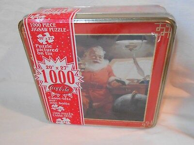 Santa with Coca-Cola 1000 Piece Jigsaw Puzzle Sealed in Collector's Tin Unopened