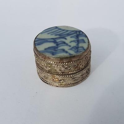 Antique Chinese Ming/qing Shard Pill/trinket Box