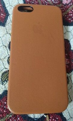 designer fashion 4440c 46af4 GENUINE APPLE IPHONE SE Leather Case Saddle Brown Fast Dispatch