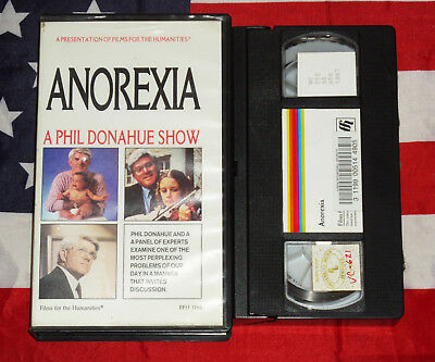Anorexia The Phil Donahue Show VHS Video TV Help Prevention Tape Very rare