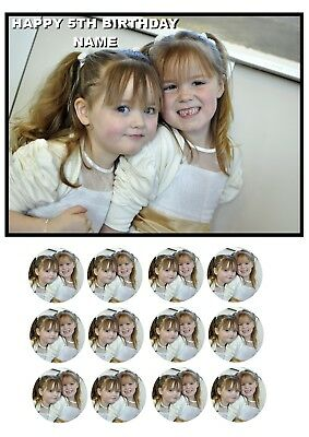 Personalised A5 Edible Add Your Own Image Photo Cake Topper With Cupcake Toppers