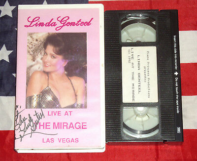 Linda Genteel Live at the Mirage Hotel (VHS, 1992) Vegas Show Video Rare Tape