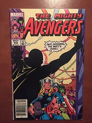 The Avengers #242 (1984) 6.0 FN Marvel Comics Newsstand Edition Key Issue Thor