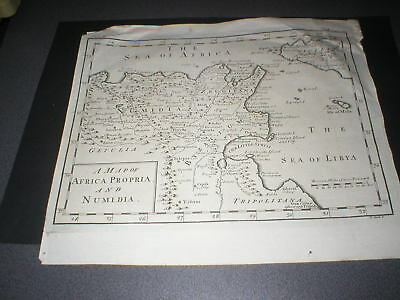 c 1780 Map of Africa Propria and Numidia, Engraved by J Clark