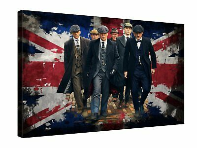 PEAKY BLINDERS Gangsters Union Jack - Quality canvas wall art, ready to hang
