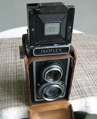 Zeiss Ikon Ikoflex Twin Lens Reflex Camera, Novar-Anastigmat Lens, Leather Case