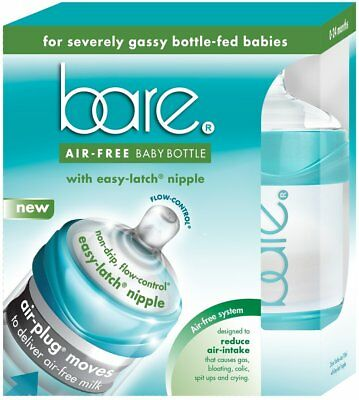 Baby Bottle with Easy-Latch Nipple, BARE AIR FREE, 4 oz 2 pack