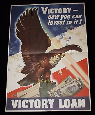 """""""Victory - Now You Can Invest In It!"""" WWII Victory Loan Poster Dean Cornwell"""