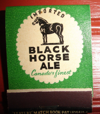 Vintage Black Horse Ale Canada's Finest N.Y. Feature Matchbook Unstruck
