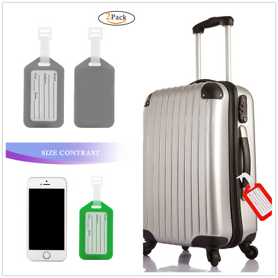 Aluminium luggage tags suitcase label name address id baggage bag plastic luggage tags name card business card suitcase tags travel accessories reheart Image collections
