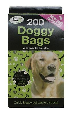 Doggy Poo Bag ,Scented Doggy Bags With Easy Tie Handles For Pet