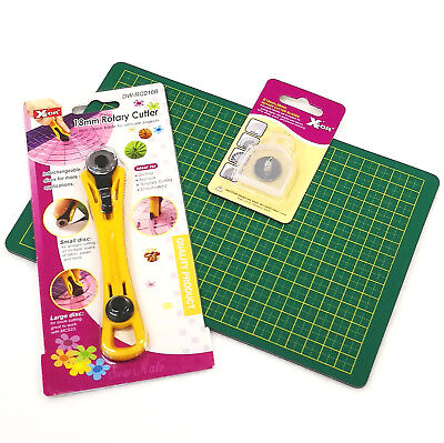 18mm Rotary Cutter with Mat and extra blades x 2