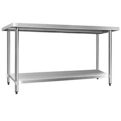 430 Stainless Steel Kitchen Work Bench 1524mm Food Grade Commercial Quality