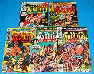 JOHN CARTER, WARLORD OF MARS  LOT A of 5 #3-7 VF-NM Marvel  1977 ERB