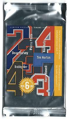"""NHL Hockey """"Original 6"""" Canada Post Stamps Sealed Pack ORR PILOTE ++ Autograph?"""