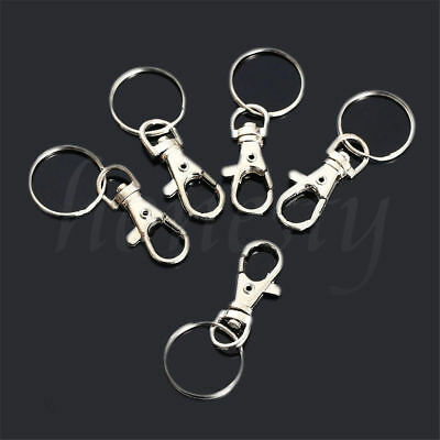 5~20X Swivel Clips Lobster Clasps Trigger Snap Hooks Bag Key Ring Charms Finding