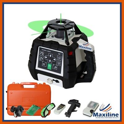 Maxiline GSW206G Green Beam Self Leveling Rotating Rotary Laser Level w Detector